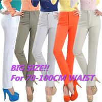 Big Plus Size Women Trouers! S~3XL,4XL,5XL! 2014 Winter Casual High Waist Pants for Women Boot Pants Lady Cotton Trousers Female