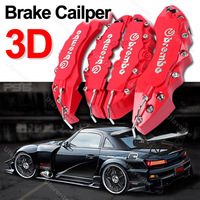 Free shipping 4pcs 3D Red Brembo For Toyota Style Car Brake Disc Caliper Cover Racing Front Rear KIT car styling parking