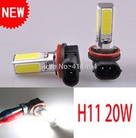 2pcs/lot Free Shipping Brand New Car 20W watt H11 LED Pure White Parking Head Fog Light Lamp Bulb DC12V New COB Fog Light A115