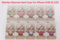 1PCS For iPhone 4 4s &5 5S Case Hot Sexy Marilyn Monroe Bubble Gum Hard Plastic Cover For iPhone 4S Mobile phone bags cases