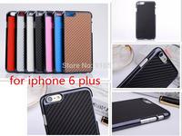 New Chromed Carbon fiber sticker caes for iphone 6 Plus, carbon fiber hard case for iphone 6 plus