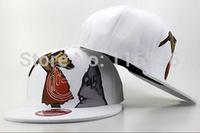 New Style! Free Shipping! Crazy Primitive Snapback Gorras, Hottest Cartoon Snapback Hats, White Cap, Hip Hop Street Fashion.