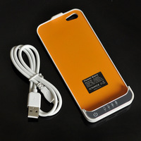 New White 2200mAh External Battery Backup Charger Case Pack Power Bank for iPhone 5 5s