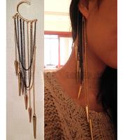Min. Order $8.8(Mix Orders) 2014 America Europe Yong Girl Fashion Punk Spike Hanging Earring FE0007