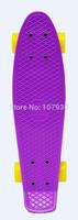 Single Rocker Skateboard Purple Penny Board Original Griptape Aluminium Truck 85A Wheel