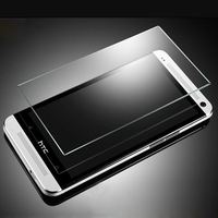 New 0.3mm 2.5D 9H Proof Tempered Glass Screen Protector Film Cover & Free Cloth For HTC ONE M7 + Retail Package