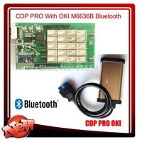 2pc/lot TCS CDP OKI (M6636B OKI Chip) V2013.03 with keygen +bluetooth for cars & trucks