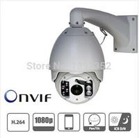 2MP full HD 1920*1080P High speed dome camera 20x Zooms cctv camera Audio/IO/USB  PTZ IP Camera outdoor