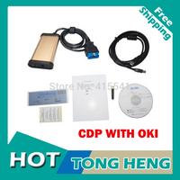 DHL Free shipping 2013R3 Cdp Oki ( M6636B OKI Chip) Diagnostic Tool Tcs Cdp Pro PLus With OKI + Bluetooth Tcs Scanner