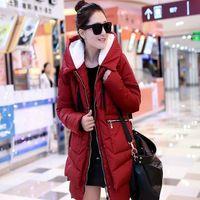 New 2014 Jacket Women Winter Coat Thicken Slim Female Raccoon Fur Collar And Long Coat Women Parka Winter Coat Plus Size S-4XL
