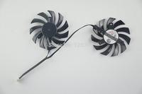 2pcs Cooler Fan 75mm For MSI GTX 460 Twin Frozr II 4Pin PLD08010S12HH