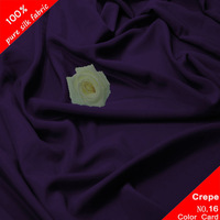 "Pure Silk Crepe De Chine Fabric 14MM Width45"" 3 Yards Violet"