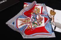 18m/m Silk Desigual Scarf Women Brand Print Scarves Winter 2014 Shawl Foulard Bufandas Designer Cachecol 90x90CM SF0279