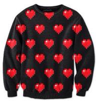 New 2014 Autumn winter Fashion Harajuku Loving Hearts Print Women Lovers wear clothes Sweatshirt Hoody Pullovers tops S-G28