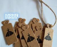 free shipping kraft paper card Garment tag for women cloth label shirt tag mini