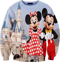 Fashion 2014 Harajuku sweatshirt Mickey Minnie cartoon print Pollover Sweater for men women lovers wear Hoodies S-G11