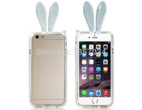 "FREE SHIPPING High quality fashion Lovely Rabbit Design TPU Rubber Bumper with Strap for 4.7"" Phone 6"