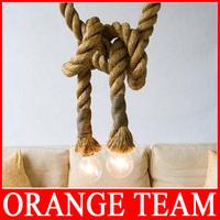 LOFT INDUSTRIAL Toronto Manila 3M Rope Ceiling Pendant Lights Chandeliers RUSTIC vintage hemp rope light