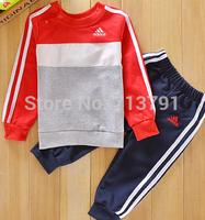 NEW Spring Autumn baby boys girls Sport suit set brand  long sleeve hoodies sets children T shirt+pants  outerwear clothing set