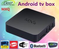 Amlogic S805 MXQ Quad Core android tv box  4K Cortex-A5 1GB/8GB Android 4.4 HDMI Airplay miracast xbmc smart tv freeshipping