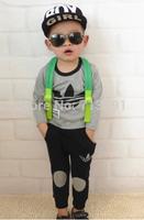 Hot Spring Autumn Leisure kids Sport suit set  children T shirt+kids pants clothing set, 2pcs sets free shipping