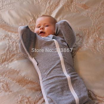 1 шт. выбрать Sleepsack на молнии пеленание спальный мешок хлопок 9 цветов, 3 размеры ...
