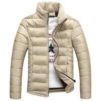 2014 Hot Sale Men Jacket Warm Stand-Collar Winter Wool Fashion Men Coat Free Shipping