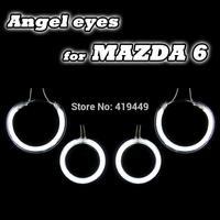 4 PCS/SET CCFL ANGEL EYES HALO RINGS & INVERTERS 03-07 MAZDA 6 HEADLIGHTS WHITE WHITE BLUE YELLOW RED