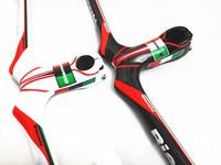 New bianchi 3k carbon fiber mountain bike handlebar mtb bicycle handlebar integrated 660*90 100 110 120mm cycling parts