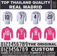 Real Madrid 2015 jersey Real Madrid 14 15 Home Away long sleeve shirt FALCAO KROOS RONALDO BALE James Rodriguez