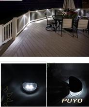 Ni-MH 600mAh Solar Panel 4V/60MA Solar Light Cool/Warm White Garden Fence Outdoor Powered Solar Wall Lamps 2LED Bulbs 4966#5007#(China (Mainland))