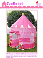 Ultralarge Children Beach Tent, Baby Toy Play Game House, Kids Princess Prince Castle Indoor Outdoor Tents Children's day gift