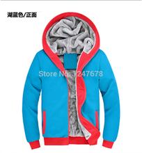 XXXL mens Hoodies & Sweatshirts 2014 new winter Korean Thick cotton hoodies men moleton masculino free shipping(China (Mainland))