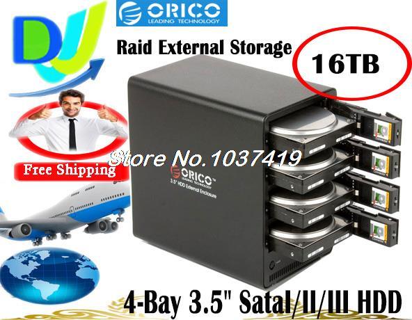 Orico 4-Bay Hot-Swap 3.5 '' SataI/II/III External HDD/HD Hard Drive Disk 16TB Raid storage Enclosure USB3.0 e-SATA 5Gbps(China (Mainland))