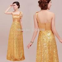 One-shoulder shoulder bag design plus size long sheath evening dress formal dress choral service bride party dresses