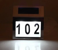 Solar house lights LED outdoor solar lights House number lamps contain numbers and letters posted stainless steel