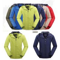 2014 HOT Outdoor Men Jacket Multicolor Waterproof Outdoor Camping Windproof Man Hiking Jacket Size M-XXXL