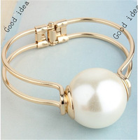 Best Gift Big Pearl Beads Cuff Bracelets Women Jewelry Wholesale 18K Real Gold Plated  Bangles!  Accessories Jewelry accessories