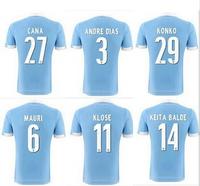 Soccer Jersey Lazio 14 15 SS Lazio 14/15 Miroslav KLOSE Jersey Lazio 2015 DE VRIJ  BALDE L.BIGLIA CANDREVA MAURI Home Blue Shirt
