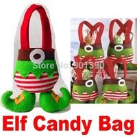 New Lovely Elf Candy Bag Christmas Gift Bag Christmas Decoration Supplies Christmas Spirit Dolls bag Size: 22X18cm Free Shipping
