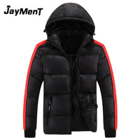 2014 hot sale men's winter warm coat new hit color cotton padded hooded men