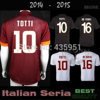 BEST Quality 14 15 Player version Embroidery TOTTI DE ROSSI 2015 Soccer Jersey camisetas de futbol / Can Customize