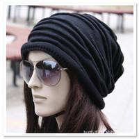 2014 New Knitting Winter Wool Brand Beanies Hip Hop Warm Hats / Gorros / Bonnets for Fashion Men Women wrinkle caps