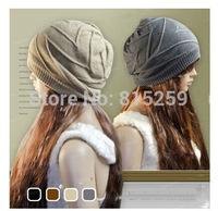 014 New fashion Knitting Winter Wool Acrylic Brand Beanies Hip Hop Warm Hats / Gorros / Bonnets for Fashion girl Wool Caps