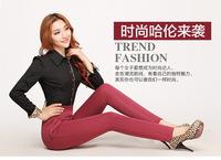 2015 Autumn Korean Slim busy stretch trousers harem pants female feet pencil pants wholesale candy-colored leggings 8106