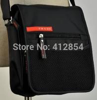 Men's black strap canvas wild small Man shouder  small bag A6