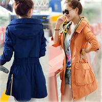 New Double Hood Women's Jacket Fashion Winter Trench For Women Slim Fit Overcoat Winter JK-364