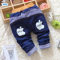4pc/lot baby winter jeans pants padded kids trousers denim thicken boys grils warm pants children clothes PANYA DYF09