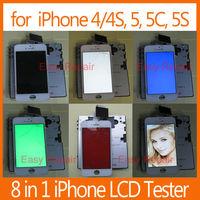 8 in 1 Multi function LCD Tester /Tool for iPhone 4, 4S, 5, 5C,5S, Motor, Earphone, Speaker, Display Screen Repair