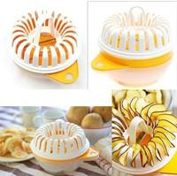 Free Shipping Microwave Apple Potato Crisp Chip Slicer Maker DIY Set Of Various Fruits Microwave Machine